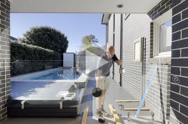 530G glass gate hinge install