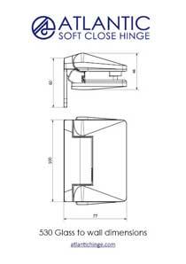 glass-to-wall-atlantic-530-hinge-dimension